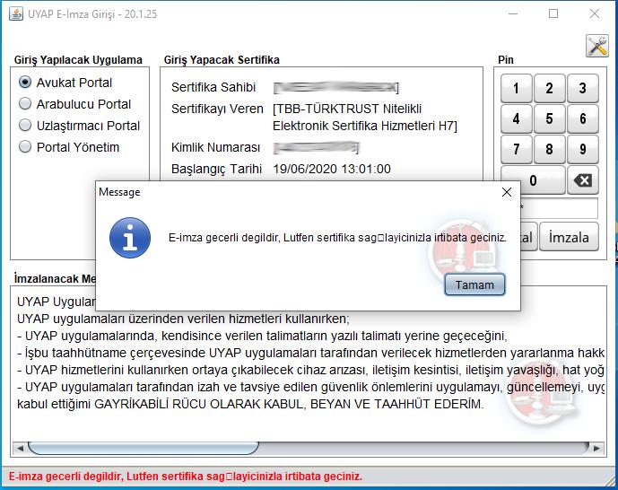 Uyap E-İmza Geçerli Değil Hatası - Uyap Çalışmıyor Hatası - Oppotr.Com