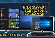 Bilgisayarı Televizyona Bağlamak